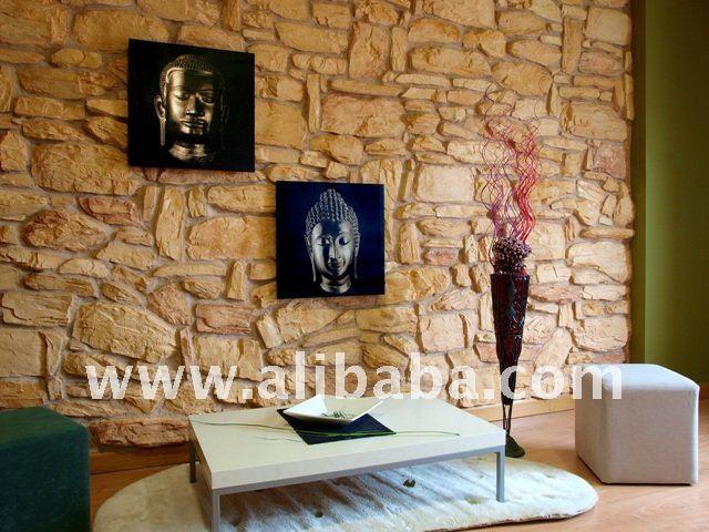 Piedra artificial decorativa para interiores y exteriores for Piedra artificial decorativa