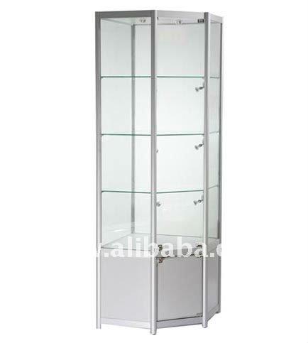 coin de vitrine en verre pr sentoire id du produit 122714599. Black Bedroom Furniture Sets. Home Design Ideas