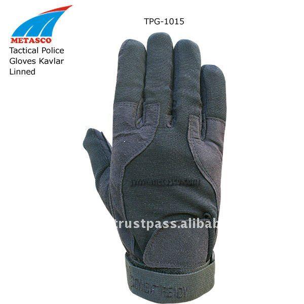 Тактические перчатки при Кевлар выравниваясь, перчатки полиций Кевлар