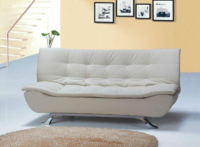 Designer de marfim falso couro sof cama 4 lugares modelo - Modelos de sofa cama ...