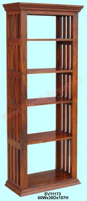 La librer a de madera estante para libros mobiliario de for Libros de muebles de madera