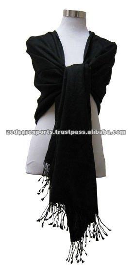 negro bufandas viscosa pashmina mantones y estolas