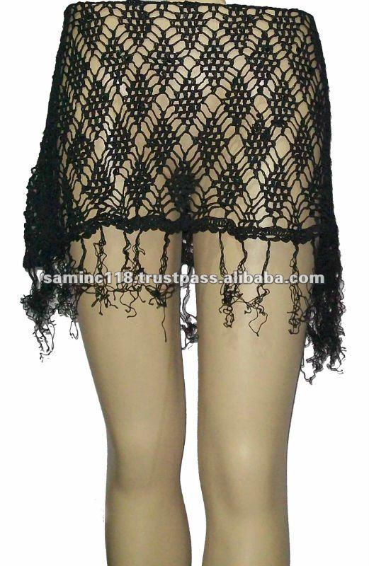 de moda las faldas de ganchillo
