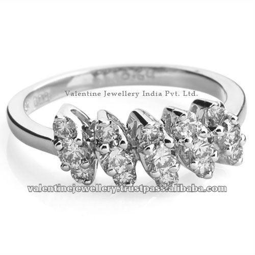 серебряные кольца с бриллиантами