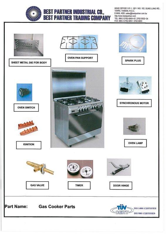 cocina a gas y sus partes electrodomsticos