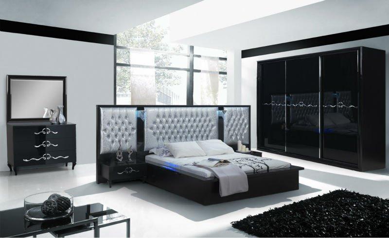 39 39 - Chambre a coucher moderne mauve et noir ...