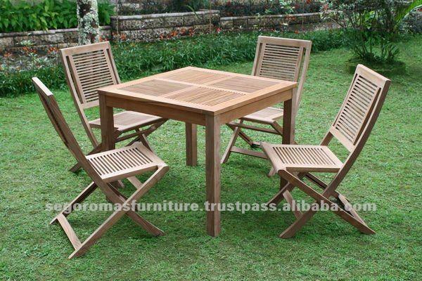 De madera de teca de indonesia de madera tiras al aire for Muebles de indonesia