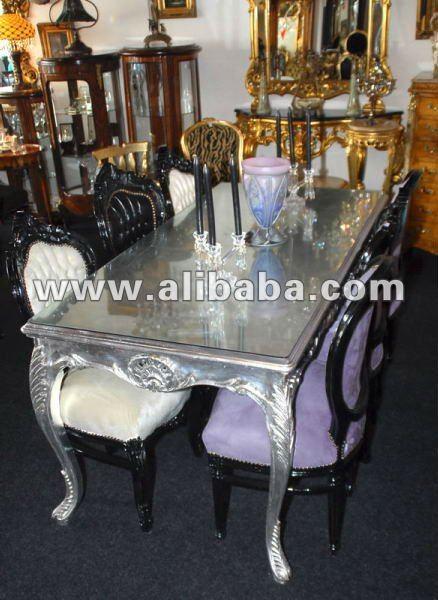 Plata brillante neo rococo fabuloso de lujo de estilo - Muebles estilo barroco moderno ...