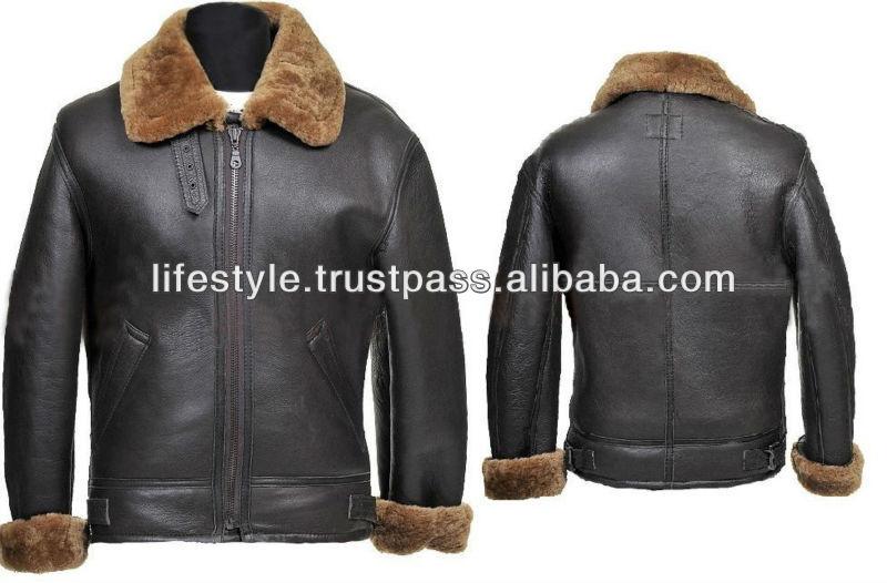 Мужская куртка кожаная с мехом 6