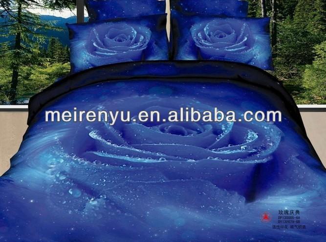 2013년 중국 새로운 디자인 저렴한 킹 사이즈 침실 세트 3D 침구 세트