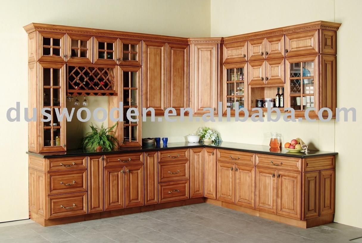 Cozinha de madeira de cerejeira móveis Armários de cozinha ID do  #7C3F20 1216x816