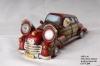 Santa Claus Driving Car With Solar Spot Light