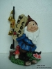 Resin Gnome With Welcome With Solar Light