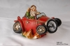 Santa Driving Car With Solar Spot Light