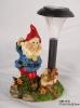 Solar Gnome With Solar Mushroom Light