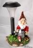 Resin Gnome  Solar Mushroom Light