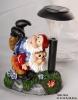 Resin Gnome With Solar Mushroom Light