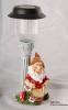 Resin Gnome Playing Music With Solar Mushroom Light