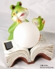 2 Frogs Reading Book With Solar Glass Lamp