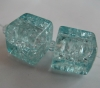 Crackle Glass Beads-10*10Mm Cube