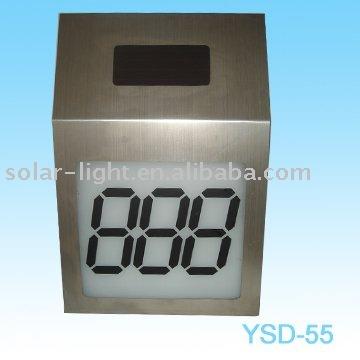 Solar Doorplate Light
