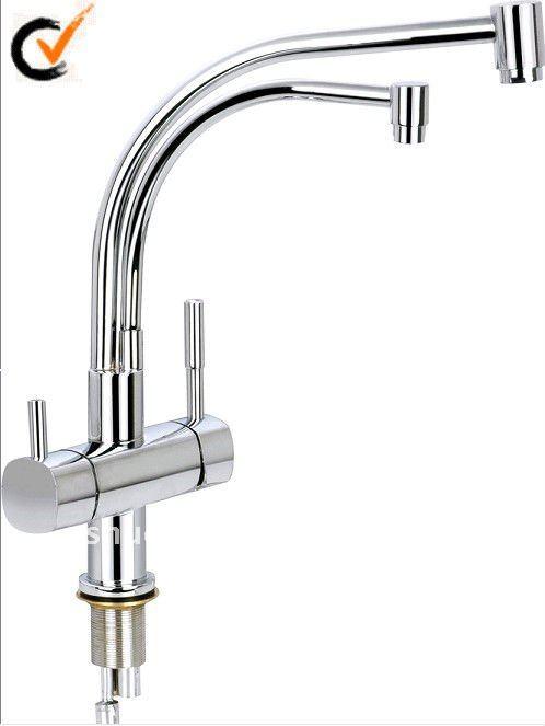 Doppio tubo acqua potabile rubinetto ( cucina miscelatore sdc - 6001 )