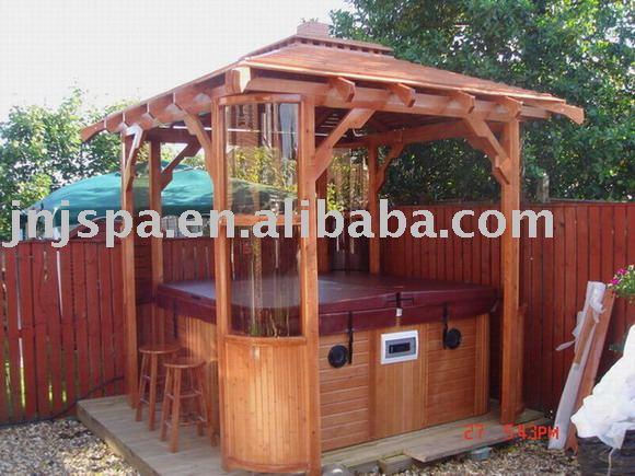 gazebo jardim madeira:Gazebo spa( madeira gazebo do jardim, pavilhão de jardim)-Janelas