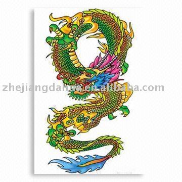 Dragon Tattoo Temporária etiqueta. Termos do pagamento: L/C,T/T