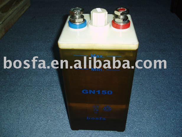 GN1000- (2) batería del nife del acumulador alcalino de 1.2v 1000ah 1.2v1000ah