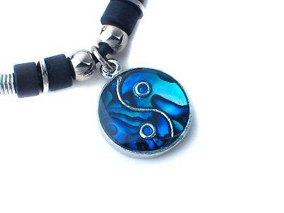Alín Vulpes~ Hawaiian_Jewelry_Ying_Yang_Abalone_Shell_Necklace_Pendant