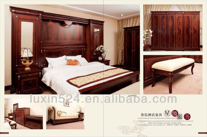 2013 h tel classique en bois chambre ensemble de meubles - Mobilier chambre hotel ...