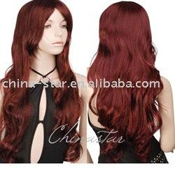 Peruca cosplay sintética, peruca #CDP-066 do partido do vestido extravagante