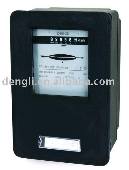 Three Phase Electricity Meter Mechanical : Trifásico tipo inserção quilowatt hora medidor de