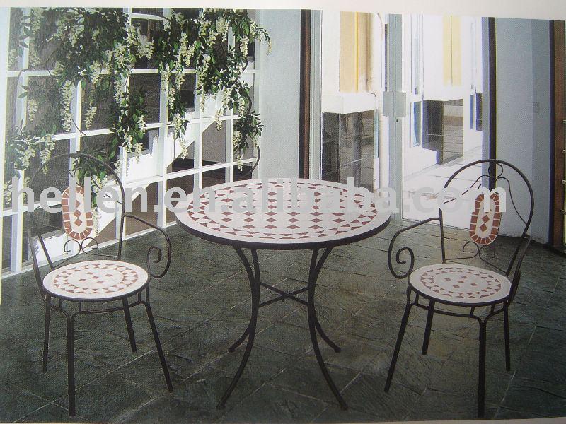 modernen 2013, mosaik fliesen top runden tisch und stühle bistro set