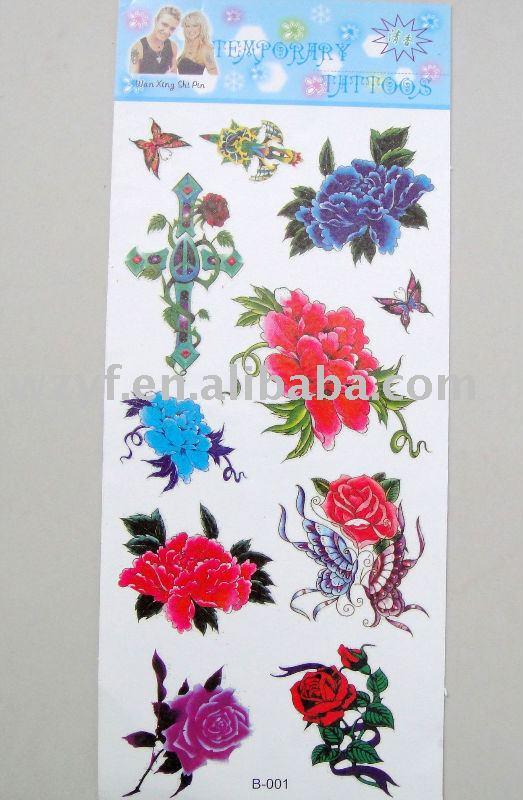 tatuajes de flor japonesas. fotografia tatuaje flor. etiqueta engomada temporal del tatuaje de la flor