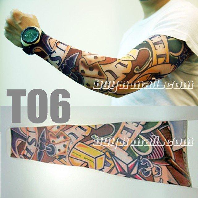 manga tatuajes. mangas de nylon del brazo del tatuaje/mangas/tatuaje del tatuaje del cuerpo