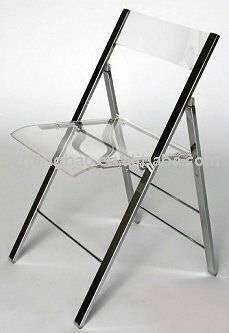 Acr lico silla plegable silla de tijera identificaci n del - Sillas acrilico transparente ...
