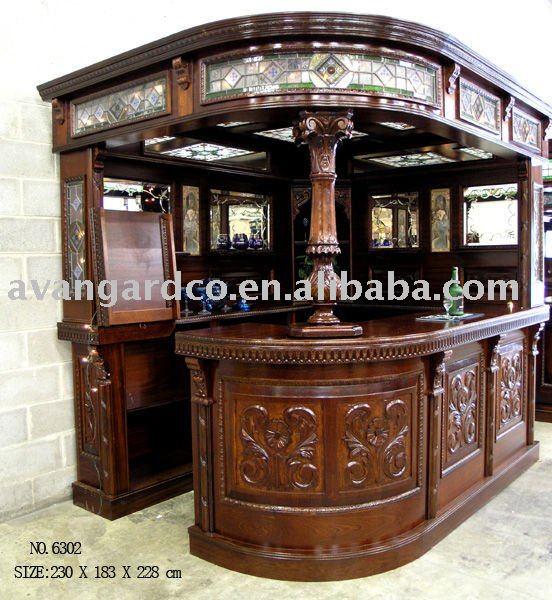 Bisini del cliente del oem para el hogar de madera s lida for Modelos de bar en madera rustica