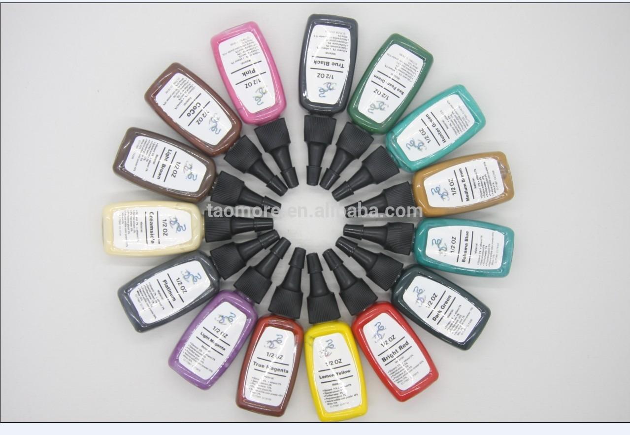 tintas tatuajes. Tatúe el sistema completo de las tintas del pigmento de 15 del color el 1/2 onza tintas del tatuaje (15ml) WS-I322. Lugar del origen: Guangdong China