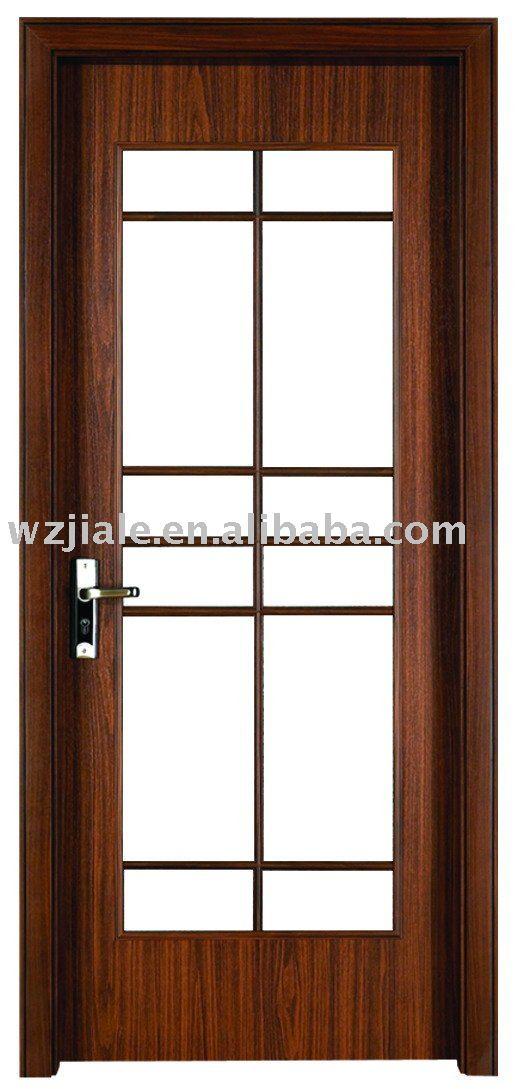Puertas para ba o en madera for Vidrios para puertas de madera