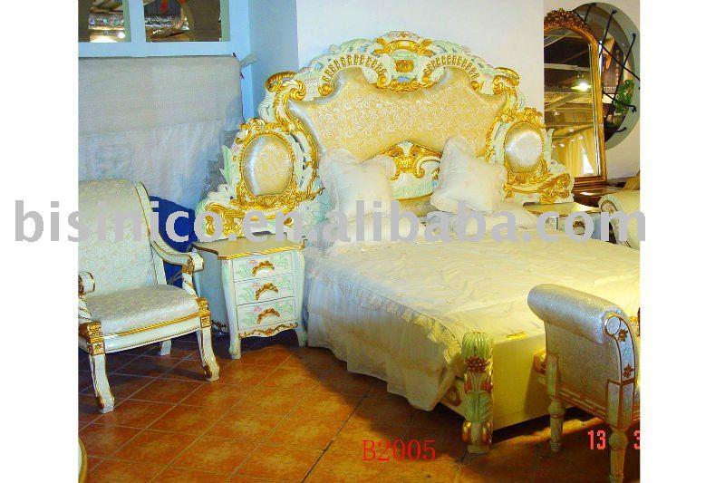 Cl sica y antiguo de madera juego de dormitorio de lujo for Juego de dormitorio queen