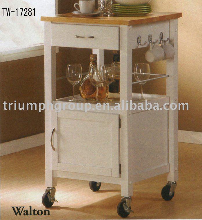 dalla cucina in legno carrello mobili per