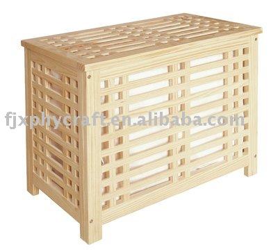 en bois panier linge avec toile doublure sac panier linge id du produit 318836866 french. Black Bedroom Furniture Sets. Home Design Ideas