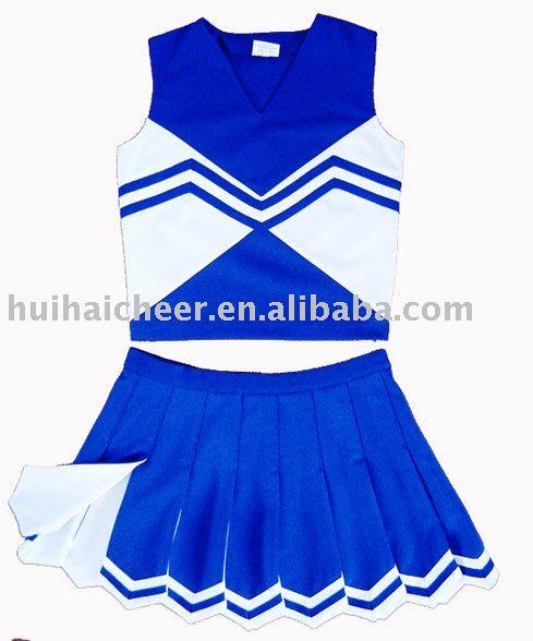Blue White Cheerleading Uniforms