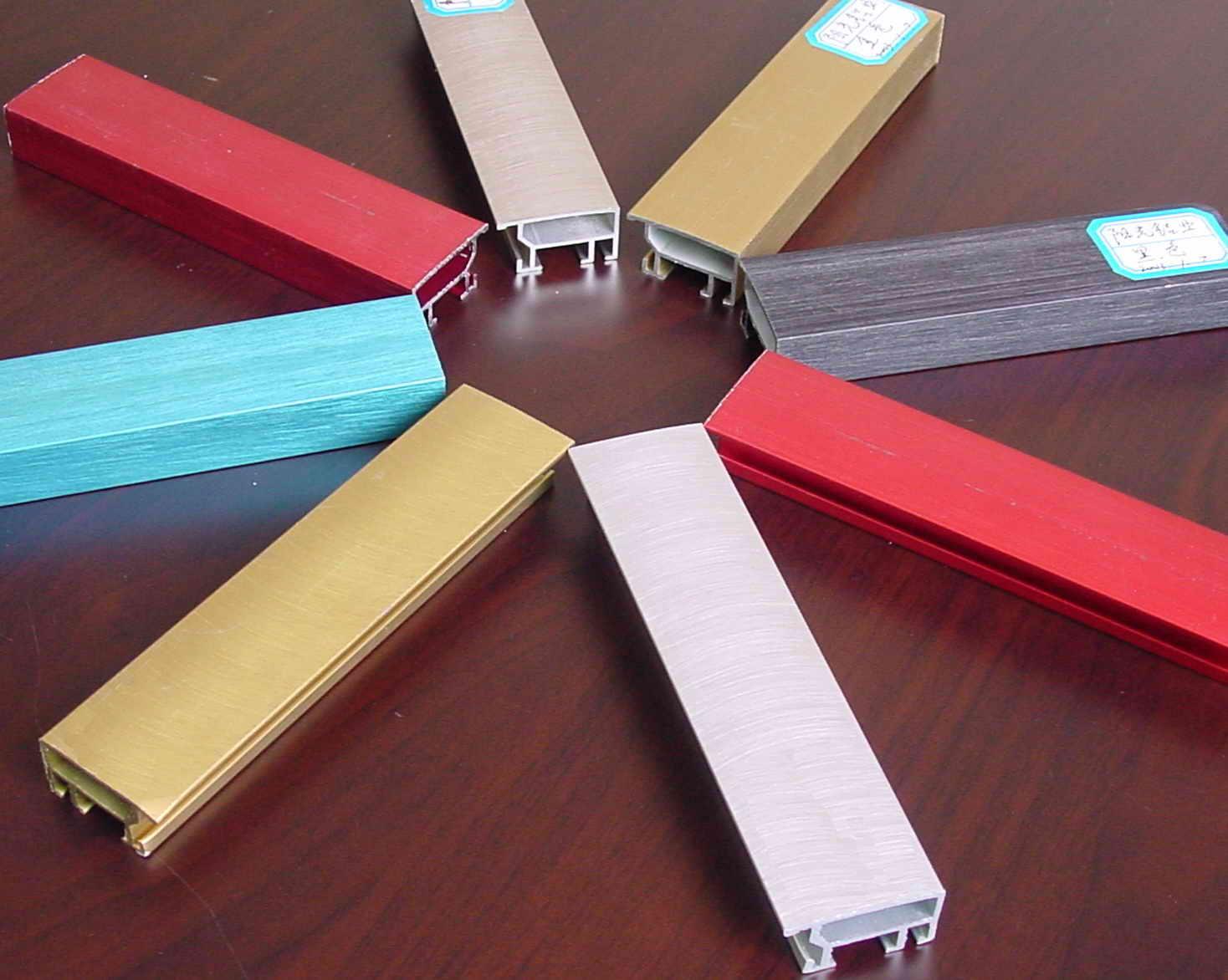 #B11A29 cores de perfil de alumínio anodizado Perfis de Alumínio ID do  4256 Janela Aluminio Anodizado Bronze Preço