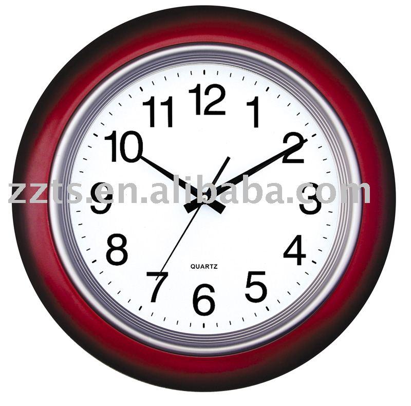 18 polegada en plastique quartz horloge horloge murale id for Horloge murale grande taille