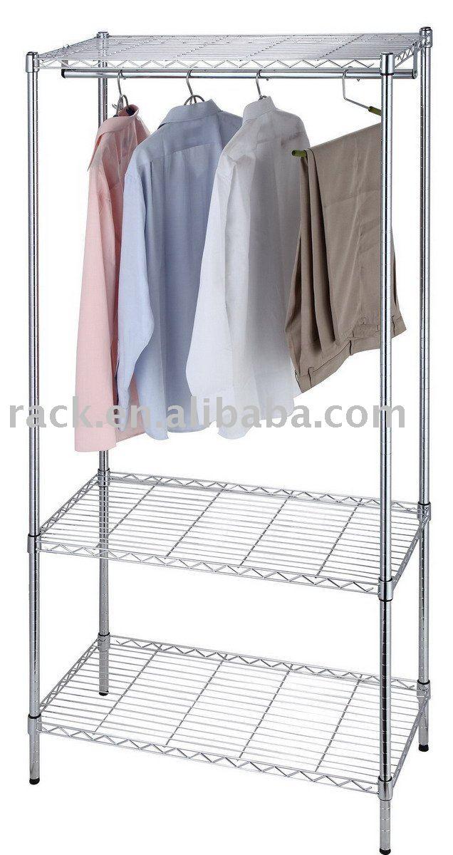 Armario Ropero Metal : Armario de lona del dormitorio en cromo