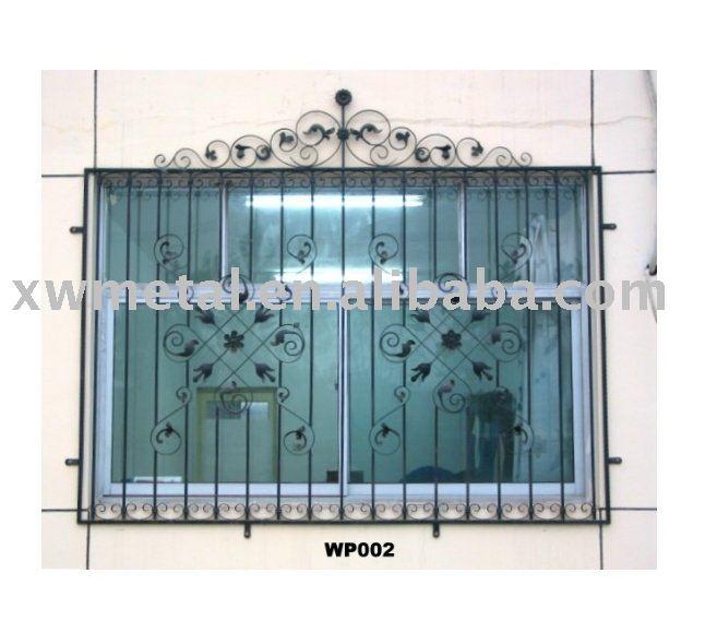 ventana de hierro forjado de la guardia