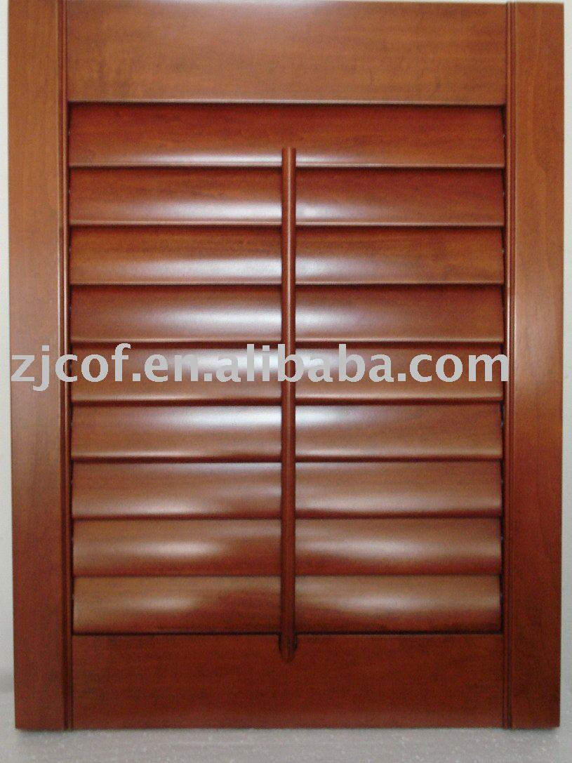 Del obturador de madera ciegos pantalla persianas - Persianas enrollables de madera ...