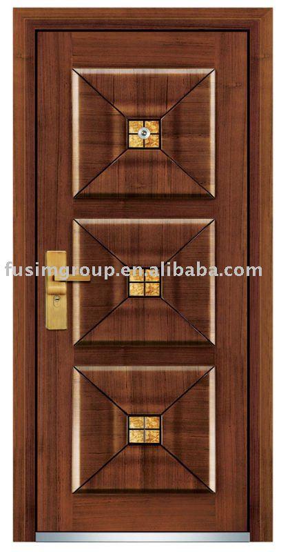 Italiano de acero principal el ltimo dise o de madera for Ver disenos de puertas de madera